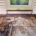Techobloc stoop with diamond inlay.  East Granby, CT 2013