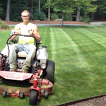 Mow Master Eric Laying Down Some Nice Lines.  Simsbury CT 2012